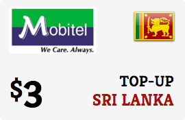 $3.00 Mobitel Sri Lanka Prepaid Wireless Top-Up