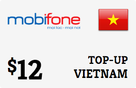 $12.00 MobiFone Vietnam Prepaid Wireless Top-Up