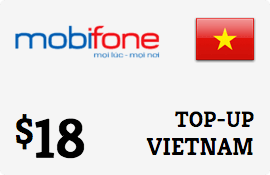 $18.00 MobiFone Vietnam Prepaid Wireless Top-Up