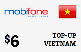 $6.00 MobiFone Vietnam Prepaid Wireless Top-Up