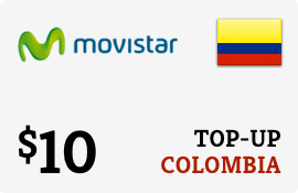 $10.00 Movistar Colombia Prepaid Wireless Top-Up
