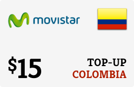 $15.00 Movistar Colombia Prepaid Wireless Top-Up