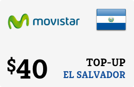 $40.00 Movistar El Salvador Prepaid Wireless Top-Up