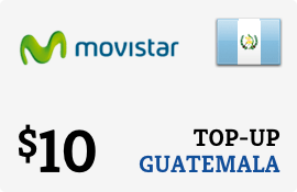 $10.00 Movistar Guatemala Prepaid Wireless Top-Up