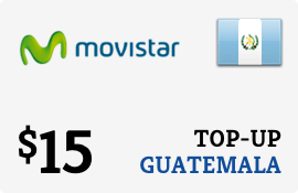 $15.00 Movistar Guatemala Prepaid Wireless Top-Up