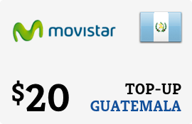 $20.00 Movistar Guatemala Prepaid Wireless Top-Up
