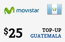 $25.00 Movistar Guatemala Prepaid Wireless Top-Up