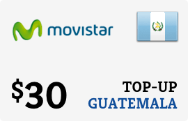 $30.00 Movistar Guatemala Prepaid Wireless Top-Up