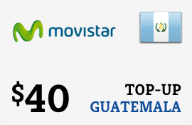 $40.00 Movistar Guatemala Prepaid Wireless Top-Up