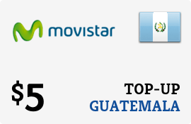 $5.00 Movistar Guatemala Prepaid Wireless Top-Up