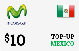 $10.00 Movistar Mexico Prepaid Wireless Top-Up