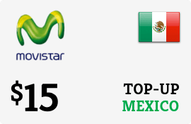 $15.00 Movistar Mexico Prepaid Wireless Top-Up