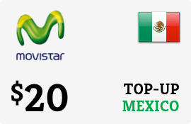 $20.00 Movistar Mexico Prepaid Wireless Top-Up