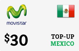 $30.00 Movistar Mexico Prepaid Wireless Top-Up