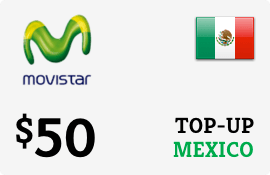 $50.00 Movistar Mexico Prepaid Wireless Top-Up