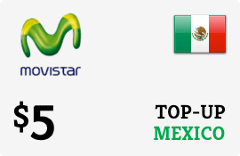 $5.00 Movistar Mexico Prepaid Wireless Top-Up