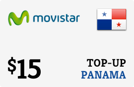 $15.00 Movistar Panama Prepaid Wireless Top-Up