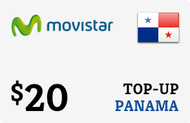 $20.00 Movistar Panama Prepaid Wireless Top-Up