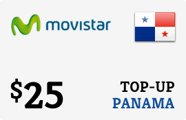 $25.00 Movistar Panama Prepaid Wireless Top-Up