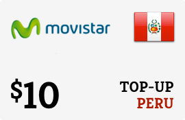 $10.00 Movistar Peru Prepaid Wireless Top-Up