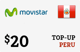 $20.00 Movistar Peru Prepaid Wireless Top-Up