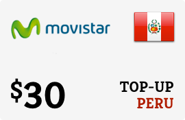 $30.00 Movistar Peru Prepaid Wireless Top-Up