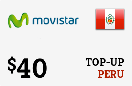 $40.00 Movistar Peru Prepaid Wireless Top-Up