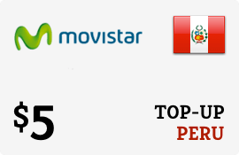 $5.00 Movistar Peru Prepaid Wireless Top-Up