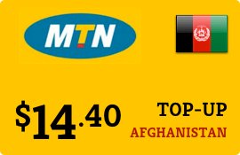 $14.40 MTN Afghanistan Prepaid Wireless Top-Up
