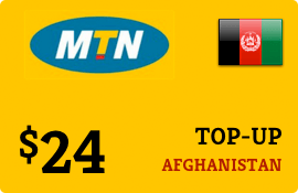 $24.00 MTN Afghanistan Prepaid Wireless Top-Up