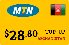 $28.80 MTN Afghanistan Prepaid Wireless Top-Up