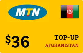 $36.00 MTN Afghanistan Prepaid Wireless Top-Up