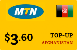 $3.60 MTN Afghanistan Prepaid Wireless Top-Up