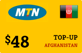 $48.00 MTN Afghanistan Prepaid Wireless Top-Up