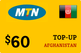 $60.00 MTN Afghanistan Prepaid Wireless Top-Up