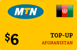 $6.00 MTN Afghanistan Prepaid Wireless Top-Up