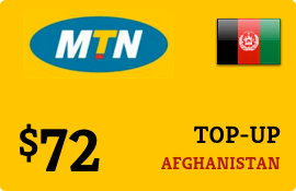 $72.00 MTN Afghanistan Prepaid Wireless Top-Up
