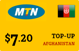 $7.20 MTN Afghanistan Prepaid Wireless Top-Up