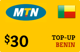 $30.00 MTN Benin Prepaid Wireless Top-Up