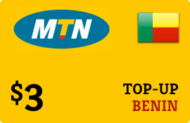 $3.00 MTN Benin Prepaid Wireless Top-Up