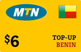 $6.00 MTN Benin Prepaid Wireless Top-Up