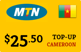 $25.50 MTN Cameroon Prepaid Wireless Top-Up