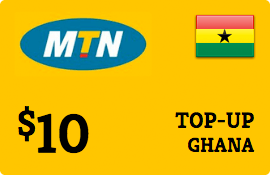 $10.00 MTN Ghana Prepaid Wireless Top-Up