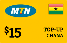 $15.00 MTN Ghana Prepaid Wireless Top-Up