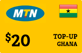 $20.00 MTN Ghana Prepaid Wireless Top-Up