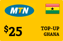 $25.00 MTN Ghana Prepaid Wireless Top-Up