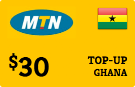 $30.00 MTN Ghana Prepaid Wireless Top-Up