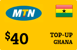 $40.00 MTN Ghana Prepaid Wireless Top-Up