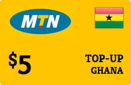 $5.00 MTN Ghana Prepaid Wireless Top-Up