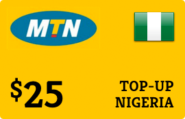 $25.00 MTN Nigeria  Prepaid Wireless Top-Up